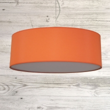 Thin Drum Pendant Burnt Orange